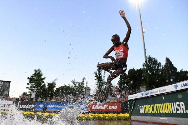 Chespol stoops to conquer 3000m steeplechase at Diamond League meet