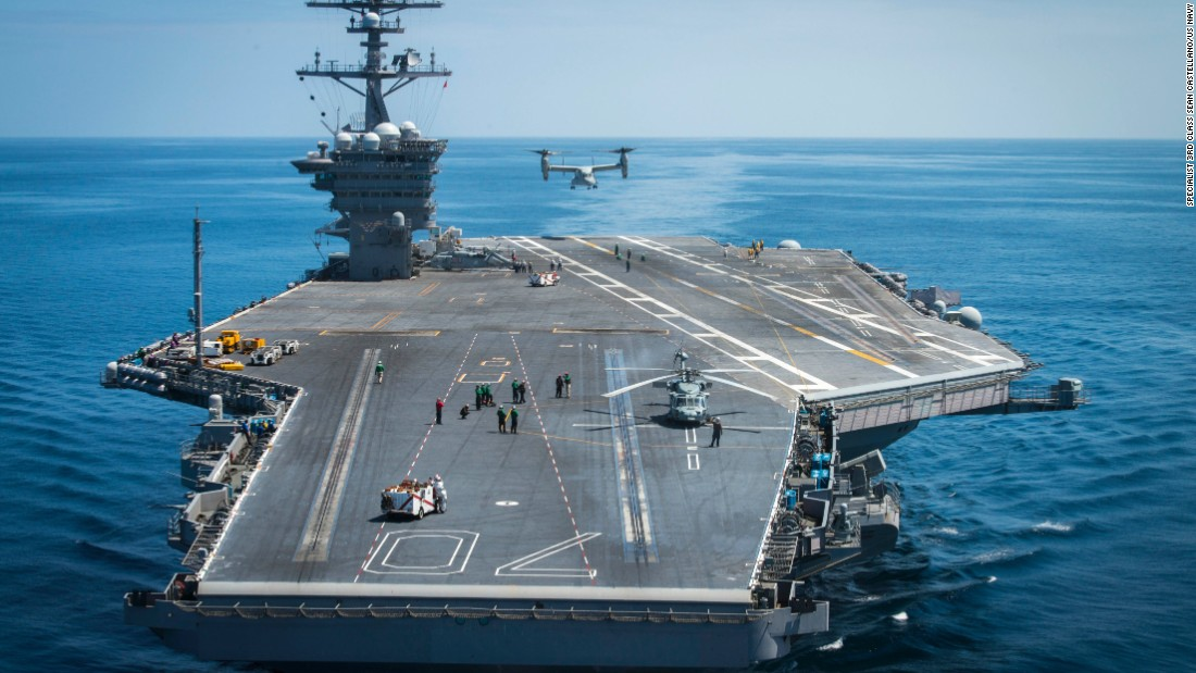 Sneak peek at US Navy's new $13B aircraft carrier